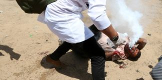gazan-life-support-hit-israeli-teargas-canister-face