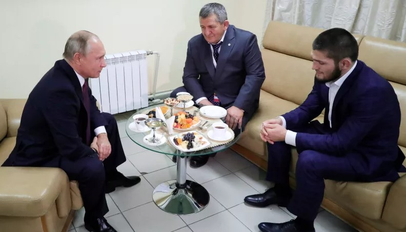 Vladimir Putin To Khabib Nurmagomedov's Father: Please Be Nice To Khabib - The Times Headline